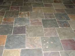 faux slate tile flooring like this color of the wood it