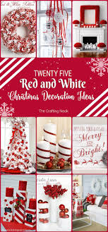 25 <b>Red</b> and White <b>Christmas Decoration</b> Ideas   The Crafting Nook ...