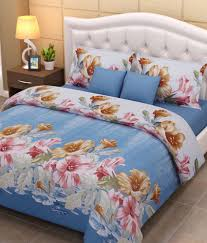 home creations d print double bed sheets pillow covers home creations 3d print 5 double bed sheets 10 pillow covers combo