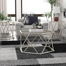 Brass chrome glass top oval coffee table this glass top coffee table embodies what's best in contemporary. Wayfair Chrome Coffee Table Sets You Ll Love In 2021
