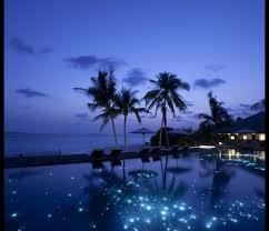 infinity pool night. Heavenly Fairy Tale-like Infinity Pool Overlooking The Indian Ocean In Maldives Night