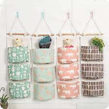 wall hanging storage.  Storage NEW Cotton Fabric Wall Hanging Storage Bag For Organizer Sundry  Pocket Decoration Kitchen Bathroom Living Room On L