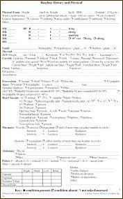 Physical Assessment Form Simple History And Physical Form Template Medical T Angelmartinezco