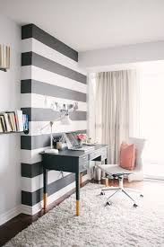 wall pictures for office. chic office space with accent wall painted broad black and white stripes pictures for