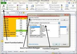 excel functions built in functions in excel 2010
