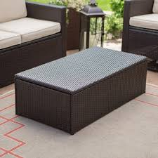 remarkable c coast berea outdoor wicker storage coffee table hayneedle wicker storage ottoman coffee table