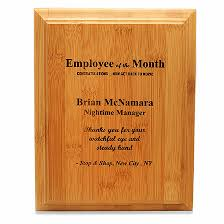 Emploee Of The Month Employee Of The Month Bamboo Wall Plaque