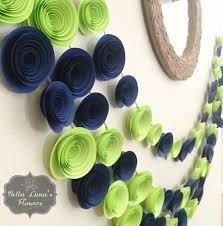 White Paper Flower Garland Paper Flower Garland Navy Blue Lime Green Idealpin