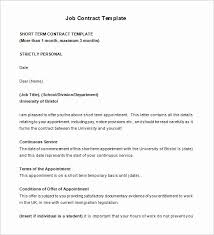 Temporary Employment Contract Template Temporary Employment Contract Template Mathosproject