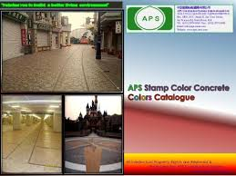 Aps Stamp Color Concrete Aps Construction System