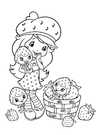 Small Strawberry Shortcake Coloring Pages Printable
