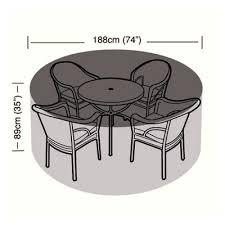 protector 4 6 seater circular patio set cover 188cm