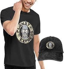 Express Dress Shirt Size Chart Men T Shirts Daily Futurama Bender Planet Express Top Shirt Baseball Caps Breathable Hats Black
