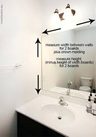 framing bathroom mirrors with crown molding how to frame a bathroom mirror framing bathroom mirrors with