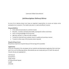 Driver Job Description For Resume Resume For Bus Driver Resume Cv Cover Letter Cdl Job Description 15