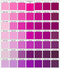 Pantone Pink Pantone Color Chart Pantone Color Pms Color