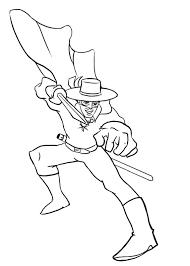 12 Disegni Di Zorro Da Colorare Pianetabambiniit