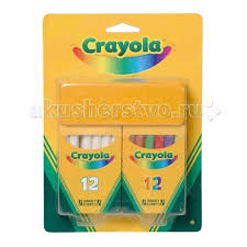 <b>Мелки Crayola</b> Набор из 12 <b>белых</b> и 12 цветных <b>мелков</b> ...