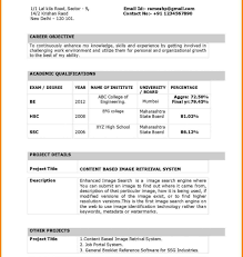 Latest Resume Download Free Exceptional Latest Resume Format For Freshers Mba Pdf Simple In 27