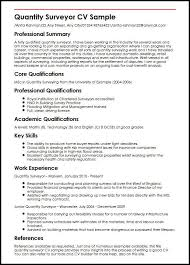 What Is Needed For A Modern Resume Quantity Surveyor Cv Sample Myperfectcv