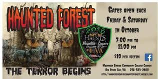 Haunted Forest Mountain Empire Community College