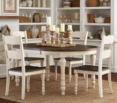 Take care of your new dining table for years to come with our protection plan from guardian. Madison County Two Tone 5 Piece Round Dining Set Kane S Furniture