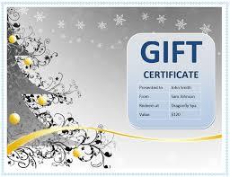Microsoft Word Templates Gift Certificates Free Gift Certificate Templates You Can Customize Birthday Stuff