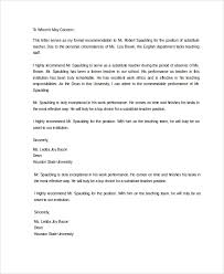 University Of Houston Recommendation Letter Sample Letter Of Recommendation 20 Free Documents Download In