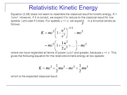 relativistic kinetic energy ppt