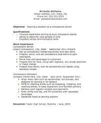 Server Resume Extraordinary Concessions Server Resume Image The Resume Template Site