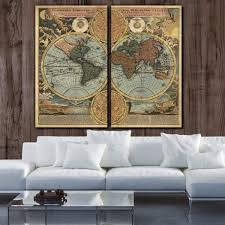 >map canvas wall art holycowcanvas vintage world map on canvas canvas wall art holycowcanvas
