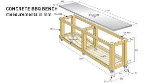 build concrete bbq bench on the diagram