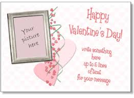 valentine photo card template valentine card to print