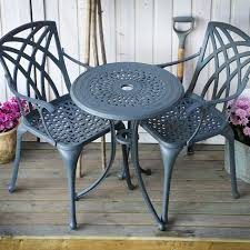 slate ella 60cm two seater bistro set