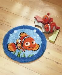 disney s finding nemo nemo shaped rug latch hook kit