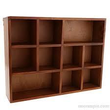 wooden wall shelf shadow box display