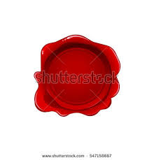 stock vector red wax seal isolated on white background vector stamp realistic red label for letter document