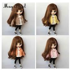 Blythe Doll Size Chart 1 6 Fashion Collarless Short Plush Coat For Blythe Doll
