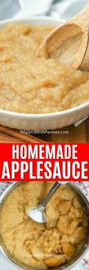 homemade applesauce just 4 ings
