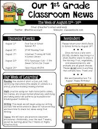 Best 25 School Newsletter Template Ideas On Pinterest