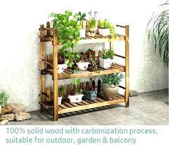 outdoor shelf garden solid wood flower rack wooden 3 tier shelve pallet shelves wall shelving unit