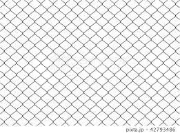 金網フェンス 背景素材のイラスト素材 42793486 Pixta
