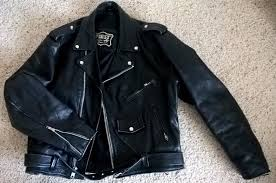 first genuine leather motorcycle jacket men s size 46 vintage
