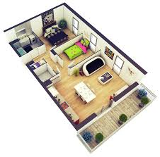 Simple House Designs 2 Bedrooms Amazing Architecture 2 Bedroom House Plans  Designs 3d Paint DesignsFor Girls