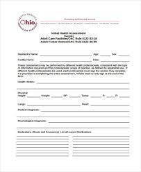 Sample Assessment Form 7 Health Assessment Form Samples Free Sample Example Format Download