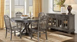 sophisticated grey round dining table of westbrook gray 5 pc room sets colors
