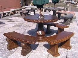 concrete outdoor table concrete round table and benches outdoor bench design concrete patio table and benches