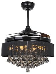 crystal chandelier with fan function and remote controller