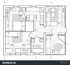 interior house plan. Exellent Interior Black And White Architectural Plan Of A House Layout In Top View The  Apartment Throughout Interior House Plan