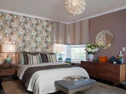 Patterned Wallpaper For Bedrooms Designing The Bedroom As A Couple Hgtvs Decorating Design